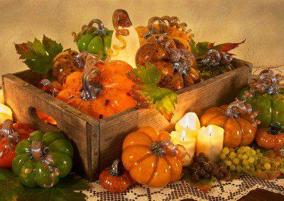 Thanksgiving Glass Display